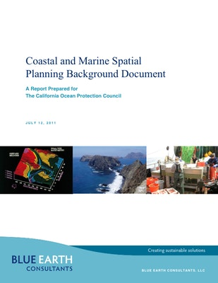 Coastal and Marine Spatial Planning (CMSP) Background Document and Recommendations for five-Year Strategic Plan