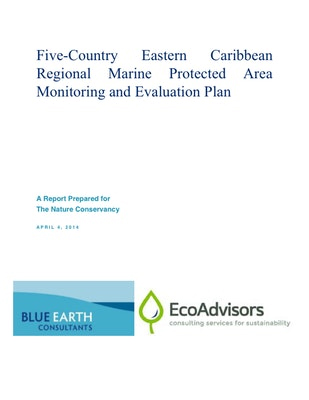 Five-Country Eastern Caribbean Regional Marine Protected Area Monitoring and Evaluation Plan